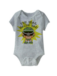 Macho Man To Be Real Gray Heather Infant Baby Creeper Snapsuit Romper