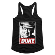 John Wayne American Legend Hollywood Actor The Duke Ladies Racerback Tank Top