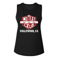Motley Crue 1981 Heavy Metal Rock Band Crue Sign Black Ladies Muscle Tank Top