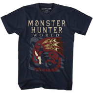 Monster Hunter Fantasy Action Role-Playing Video Game Large Dragon T-Shirt Tee