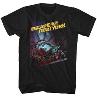 Escape From New York Run Poster 2 Black Adult T-Shirt Tee