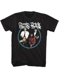 Cheap Trick Rock Band Black Adult T-Shirt Tee