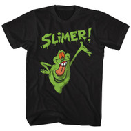 The Real Ghostbusters Animated TV Series Green Slimer Adult T-Shirt Tee