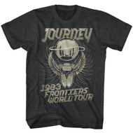 Journey Album Frontiers World Tour Guitar Cover Rock Band Adult T-Shirt Tee