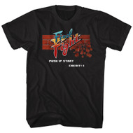 Final Fight Video Arcade Game Brick Logo Push 1P Start Adult T-Shirt Tee
