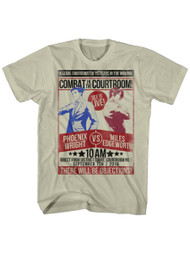 Ace Attorney Defense Trial Video Game Combat Phoenix Vs Edgeworth Adult T-Shirt