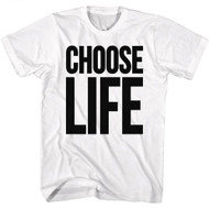 Wham English Music Duo Choose Life White Adult T-Shirt Tee