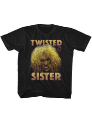 Twisted Sister Heavy Metal Band Big Curly Hair Dee Snider Toddler T-Shirt Tee