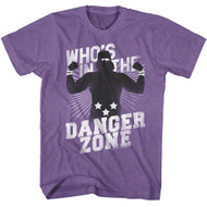 Macho Man 1980's Heavyweight Wrestler Danger Zone Adult T-Shirt Tee