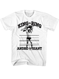 Andre The Giant Eighth Wonder Of The World Adult T-Shirt Tee Wrestler 80s King Ring