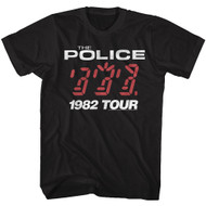 The Police British Rock Band 1982 Ghost in the Machine Tour Album T-Shirt Tee
