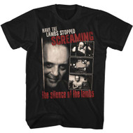 Silence Of The Lambs Horror Thriller Film Movie Screaming Black Adult T-Shirt