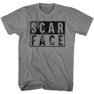 Scarface 1980's Gang Crime Classic Movie Boxed Vintage Style Adult T-Shirt Tee