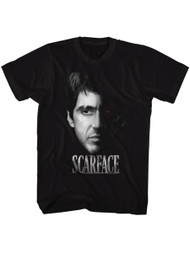 Scarface 1980's Gangster Crime Movie Al Pacino Tony Montana Face Adult T-shirt