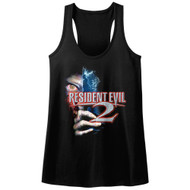 Resident Evil 2 Horror Science Fiction Video Game Eye Hand Womens Tank Top Tee