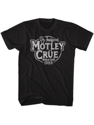 Motley Crue 1981 Heavy Metal Rock Band Feel Good Tour Black Adult T-Shirt Tee