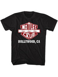 Motley Crue 1981 American Heavy Metal Rock Band Crue Sign Black Adult T-Shirt