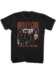 Motley Crue 1981 American Heavy Metal Rock Band Boys Room Black Adult T-Shirt