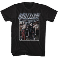 Motley Crue 1981 American Heavy Metal Rock Band Uncrued Black Adult T-Shirt Tee