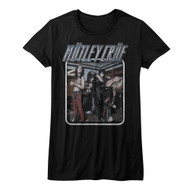 Motley Crue 1981 American Heavy Metal Rock Band Uncrued Blk Juniors T-Shirt Tee