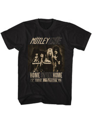 Motley Crue 1981 Heavy Metal Rock Band Home Sweet Home Black Adult T-Shirt Tee