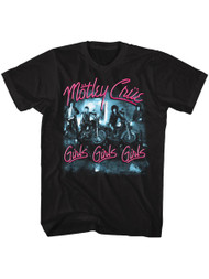 Motley Crue 1981 American Heavy Metal Rock Band Girls Girls Girls Adult T-Shirt