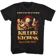 Killer Klowns from Outer Space 1988 Fantasy Parody Film Movie Adult T-Shirt