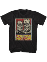 Terminator 1980s SciFi Action Movie T800S Black Adult T-Shirt Tee