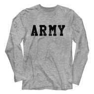 Army United States Military Army Gray Heather Adult Long Sleeve T-Shirt Tee