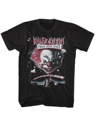 Killer Klowns from Outer Space 1988 Fantasy Film Movie Poster Blk Adult T-Shirt