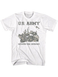 Army United States Military Beyond The Average White Adult T-Shirt Tee