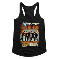 NSYNC 1995 American Boy Band Group No Strings No Words Black Ladies Tank Top Tee