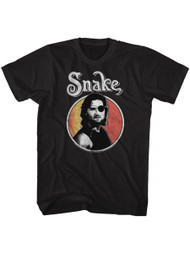 Escape From New York Circle Snake Eye Patch Adult T-Shirt Tee
