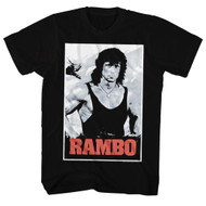 Rambo 1980s Action Thriller War Movie Movie Poster Adult T-Shirt Tee