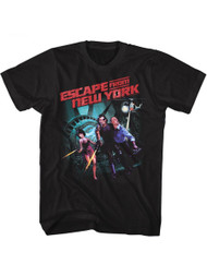 Escape From New York Running Escape Black Adult T-Shirt Tee