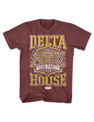 Animal House 1970's College Frat Movie Delta Faber Toga Party Adult T-Shirt Tee