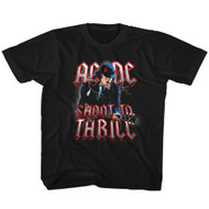 ACDC Heavy Metal Rock Band Shoot To Thrill Black Toddler T-Shirt Tee