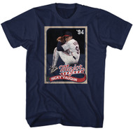 Major League Sports Comedy Baseball Movie Cards Navy Adult T-Shirt Tee