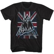 Def Leppard 1977 Heavy Hair Metal Band Rock & Roll Jacked Up Distressed T-Shirt