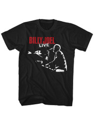 Billy Joel 1981 Tour Black Adult T-Shirt Tee