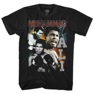 Muhammad Ali 60s Boxing Gloves Ali Strikes Bootleg Adult T-Shirt Tee