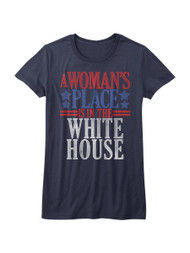 A Woman's Place Is In The White House Hillary Clinton Juniors T-Shirt Tee