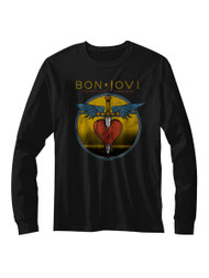 Bon Jovi Bad Name Black Adult Long Sleeve T-Shirt Tee