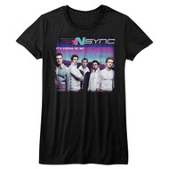 NSYNC 1995 Boy Band Group Photo It's Gonna Be Me Juniors T-Shirt Tee