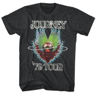Journey Album Guitar 79 Tour Cover Rock Band Adult T-Shirt Tee