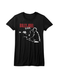 Billy Joel 1981 Tour Black Juniors T-Shirt Tee