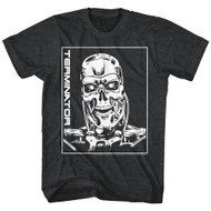Terminator 1980's SciFi Action Movie Cyborg Assassin Arnold Skull Adult T-Shirt
