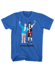 Bill & Ted's Excellent Adventure Teen Movie Adult T-Shirt Tee Graphic