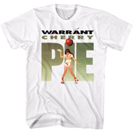 Warrant American Glam Metal Band Cherry Pie 2 White Adult T-Shirt Tee