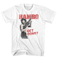 Rambo 1980's Action Thriller War Movie Get Some White Adult T-Shirt Tee